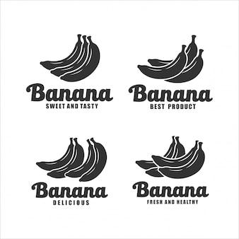 Collection de design sucré et savoureux à la banane