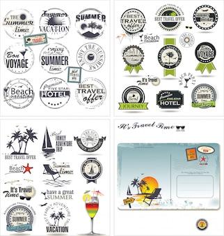 Collection de design de voyage