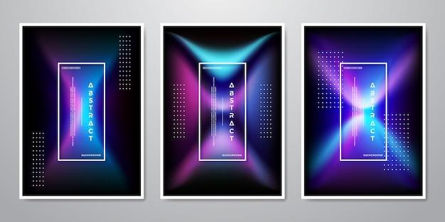 Collection de designs abstrait tendance