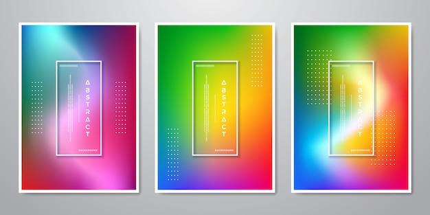 Collection de designs abstraits tendance fond coloré