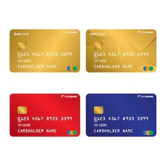 Collection de designs de cartes de crédit