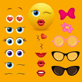 Collection de designs de créateurs emoji