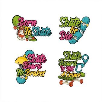 Collection de designs de logos de skateboard