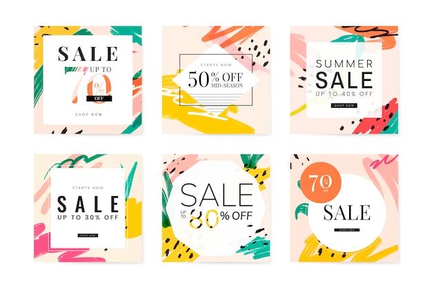 Collection de designs de vente d'été de memphis