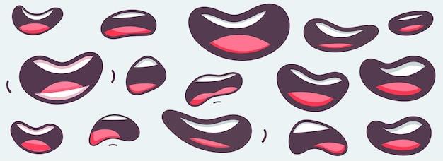 Collection de dessin animé de bouches