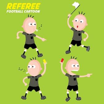 Collection de dessin animé de footbal, arbitre.