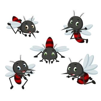 Collection de dessin animé de moustiques