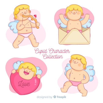 Collection de dessin animé saint valentin cupidon