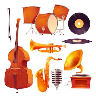Collection de dessins animés de jazz