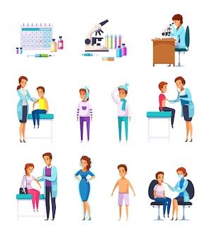 Collection de dessins animés pour enfants immunité