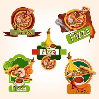 Collection de dessins pizza