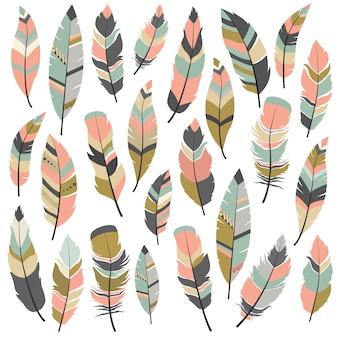 Collection de dessins de plumes