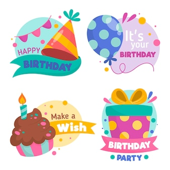 Collection détaillée de badges d'anniversaire