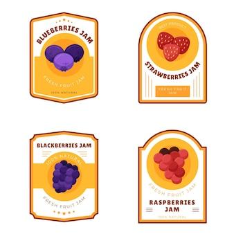 Collection détaillée de badges de confiture