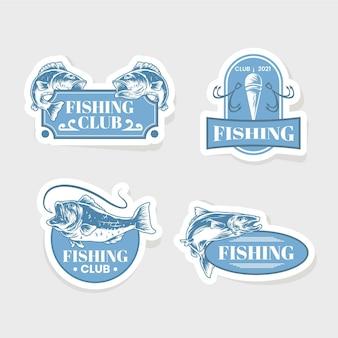 Collection détaillée de badges de pêche vintage