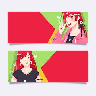 Collection détaillée de bannières d'anime