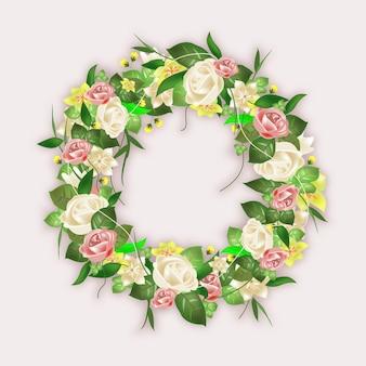 Collection détaillée de couronnes de fleurs