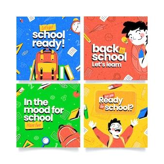 Collection détaillée de publications instagram de retour à l'école