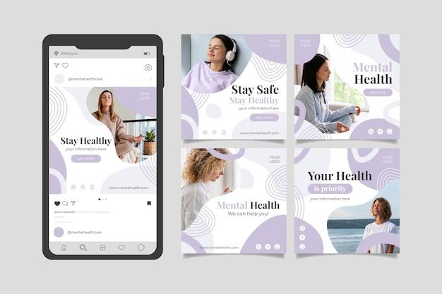 Collection détaillée de publications instagram sur la santé mentale