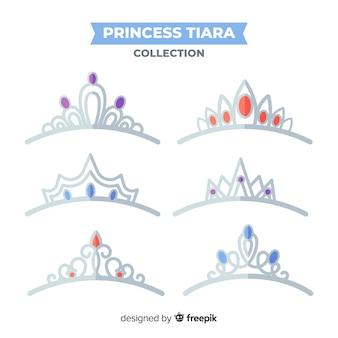 Collection de diadème de princesse en argent