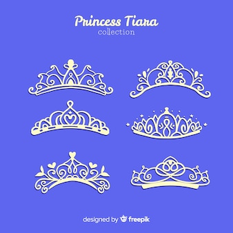 Collection de diadème de princesse en argent