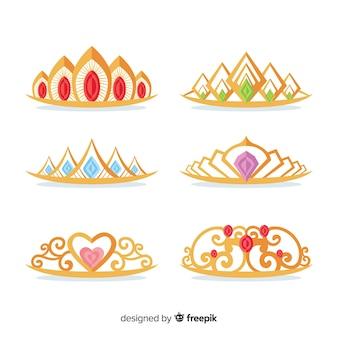 Collection de diadème de princesse d'or