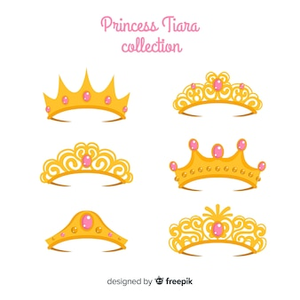 Collection de diadème de princesse d'or