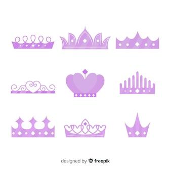 Collection de diadème de princesse pourpre