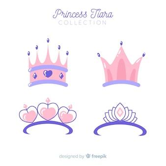 Collection de diadème de princesse rose