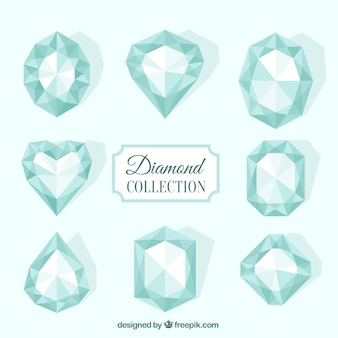 Collection de diamants en design plat