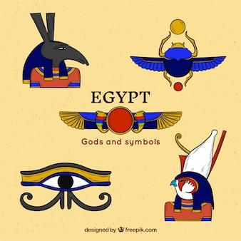 Collection de dieux égyptiens