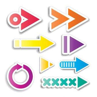 Collection de différentes conceptions de flèche