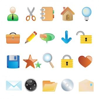 Collection de différentes icônes