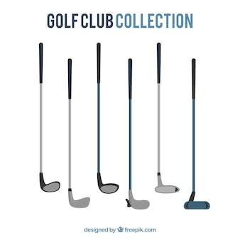 Collection de différents clubs de golf