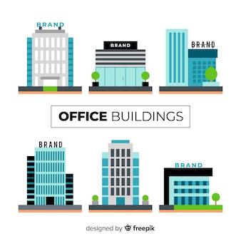 Collection de différents immeubles de bureaux