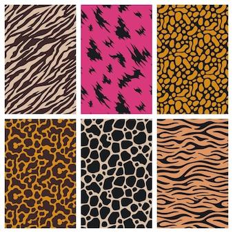 Collection de différents motifs imprimés d'animaux