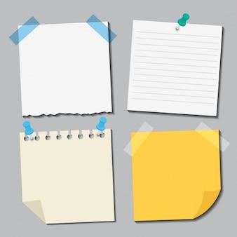 Collection différents papiers