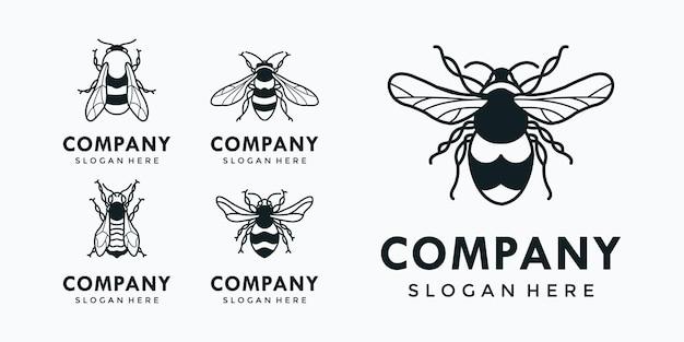 Une collection de différents types d'abeilles qui sont rassemblés