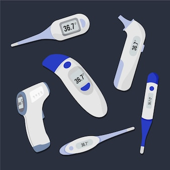 Collection de différents types de thermomètres