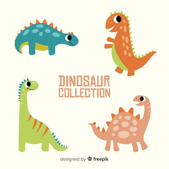 Collection de dinosaures dessinés à la main