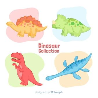 Collection de dinosaures dessinés à la main