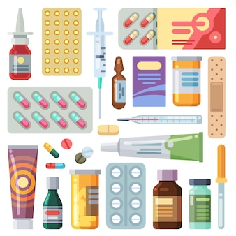 Collection de divers médicaments