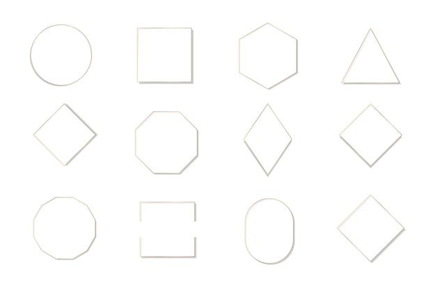Collection de divers modèles de cadres