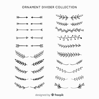 Collection de diviseur d'ornement