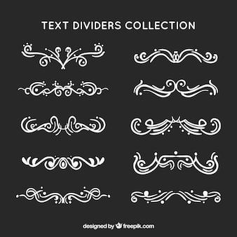 Collection de diviseur de texte décoratif à la main