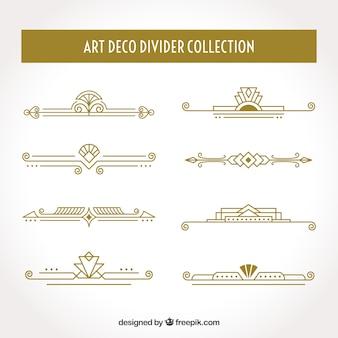 Collection de diviseurs art déco