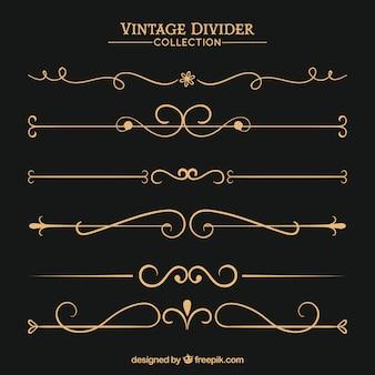 Collection de diviseurs dans le style vintage