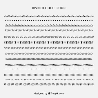Collection de diviseurs dessinés à la main