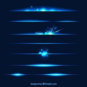 Collection de diviseurs avec effet de lumière