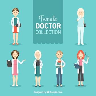 Collection de docteur féminin